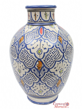 "Moroccan Vase Safi Ceramic  Multicoloured  Handmade Hand Painted 40 cm  - 16"" (SV3)"